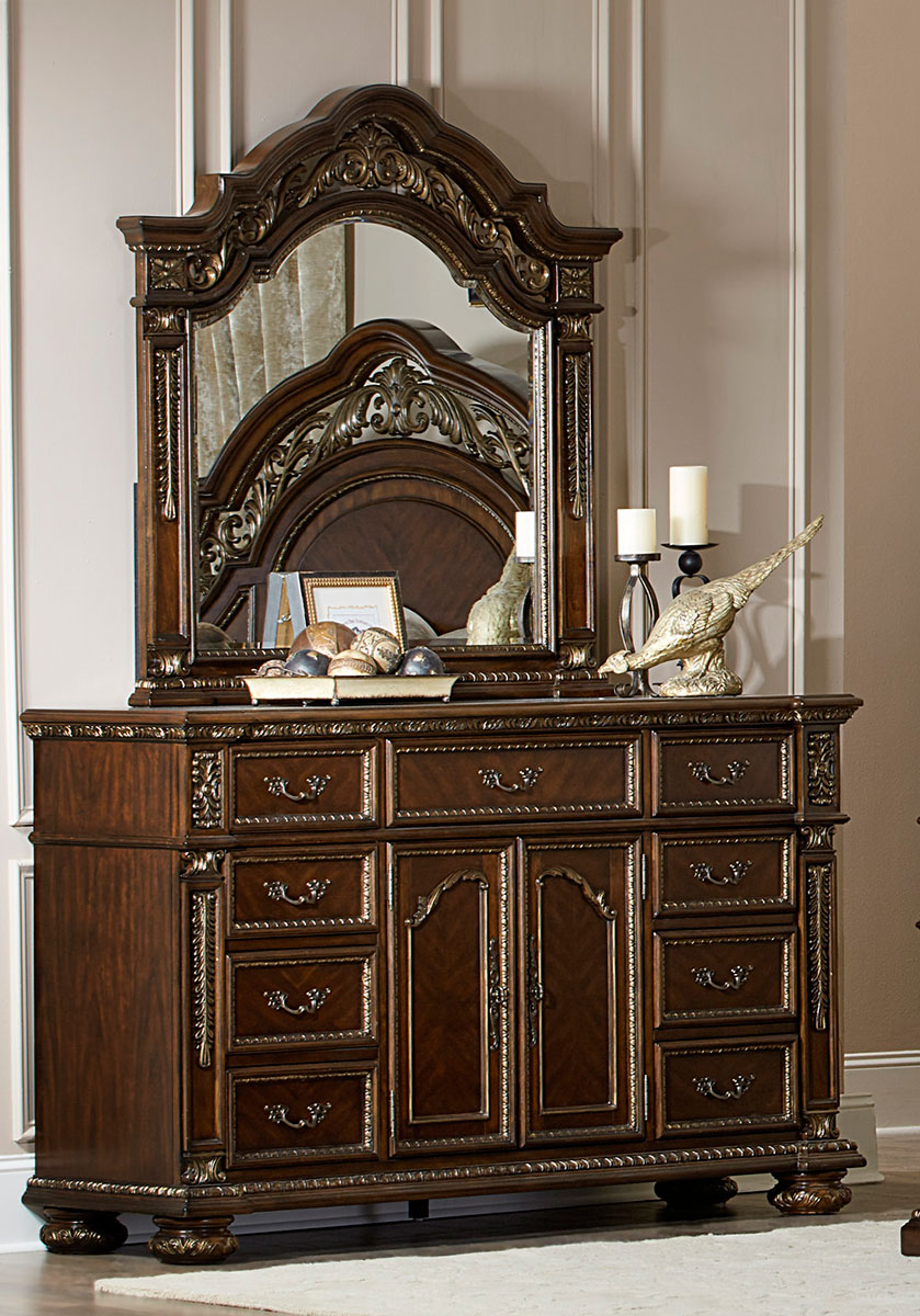 Homelegance Catalonia Dresser - Cherry