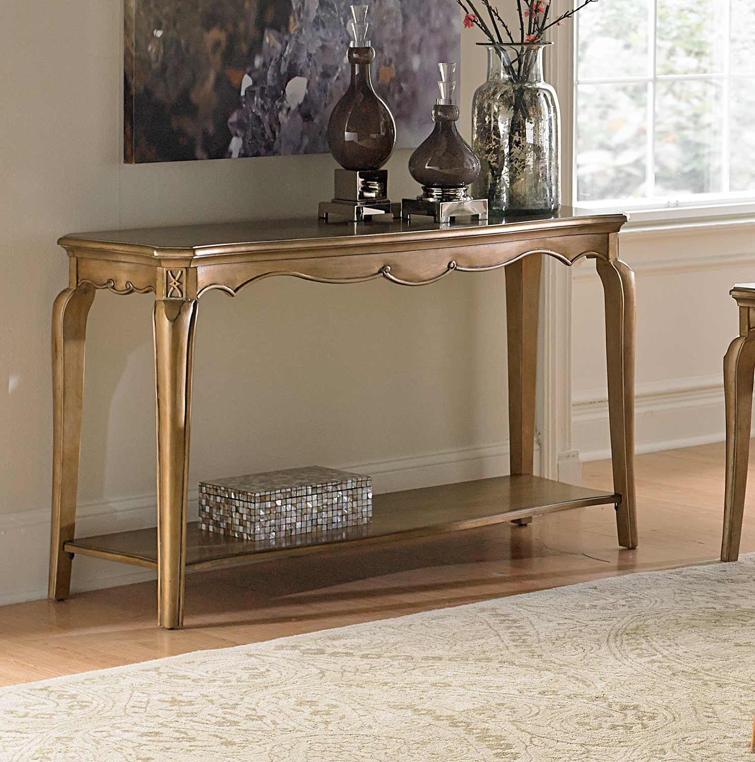 Homelegance Chambord Sofa Table - Champagne Gold