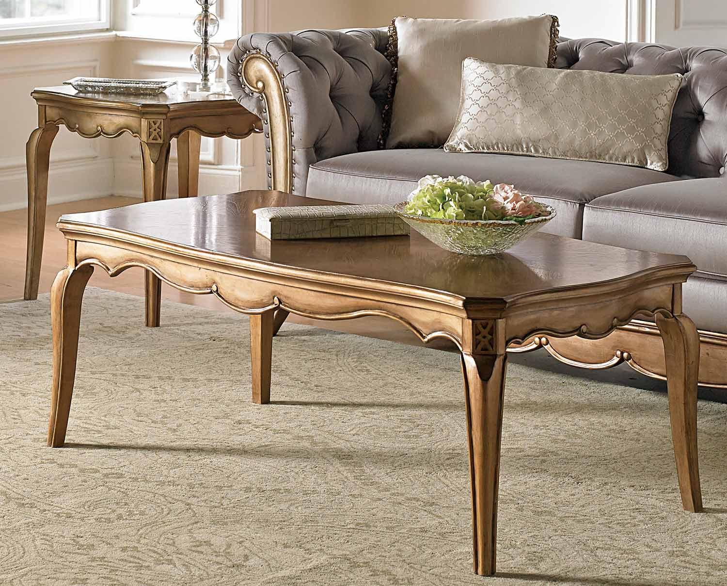 Homelegance Chambord Cocktail/Coffee Table - Champagne Gold