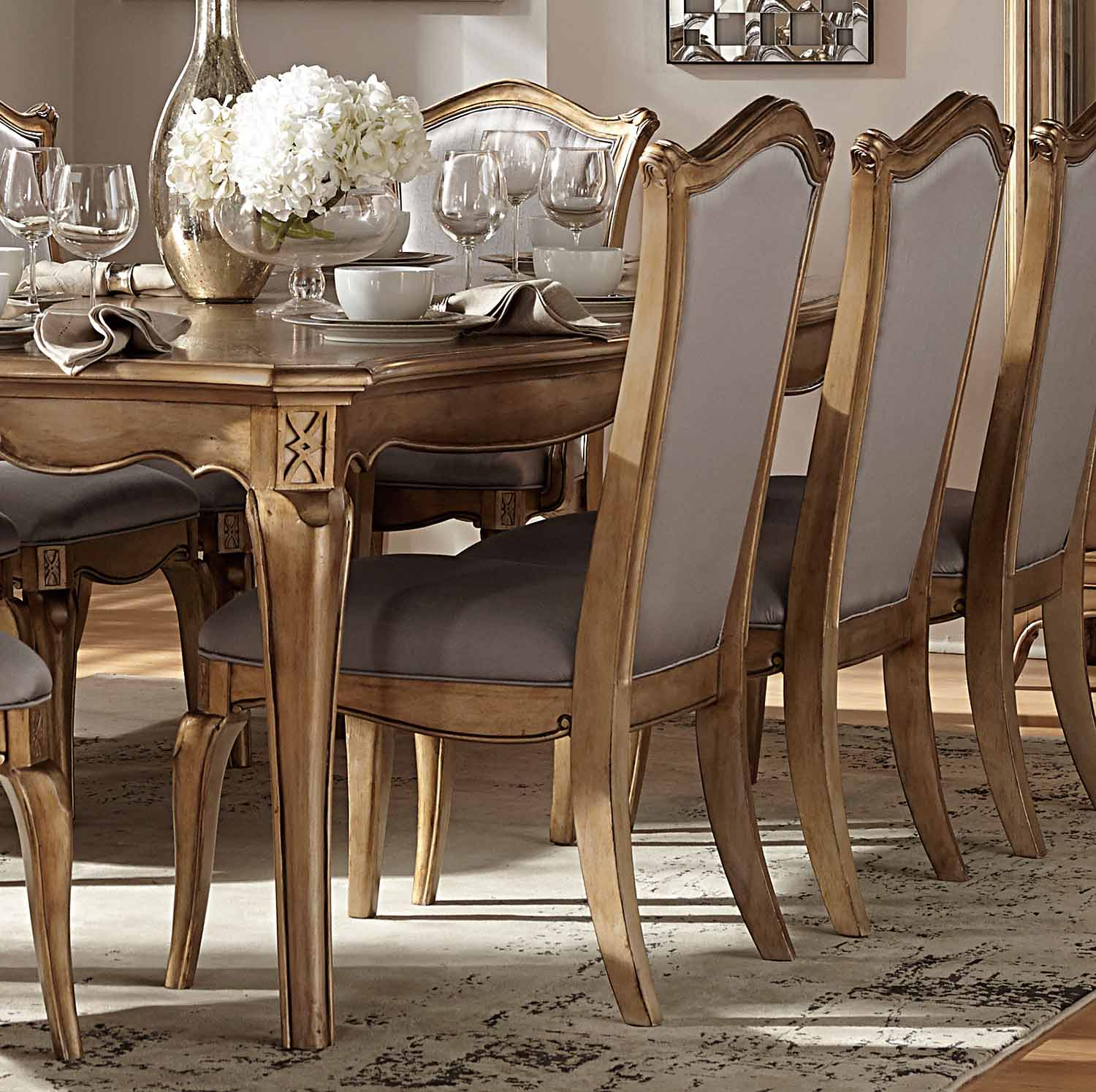 Homelegance Chambord Side Chair - Antique Gold