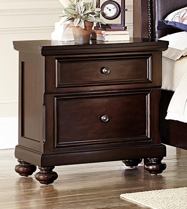 Homelegance Faust Night Stand - Dark Cherry