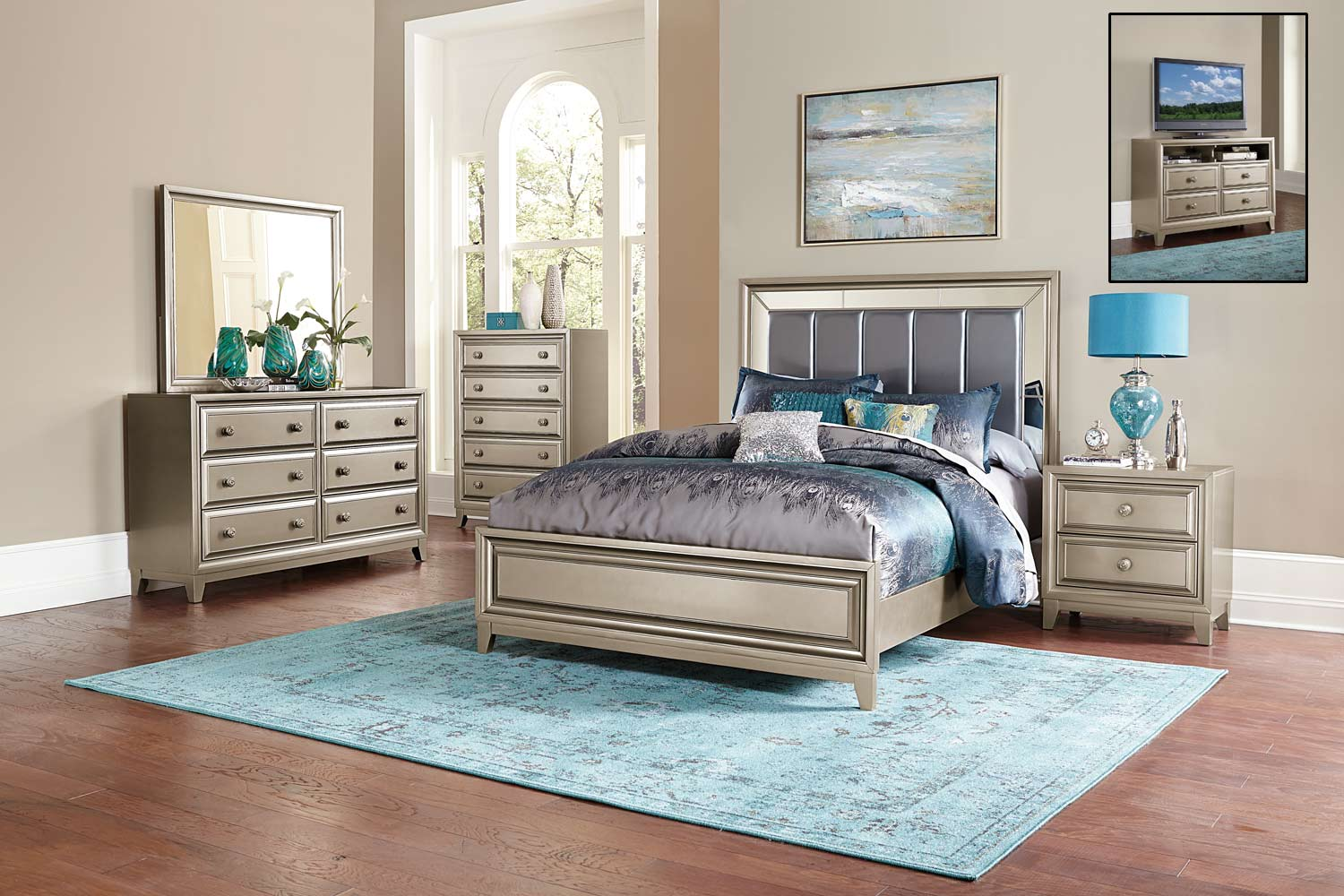 Upholstered Headboard Bedroom Sets Homelegance Hedy Bedroom Set Silver 1839 Bedroom Set
