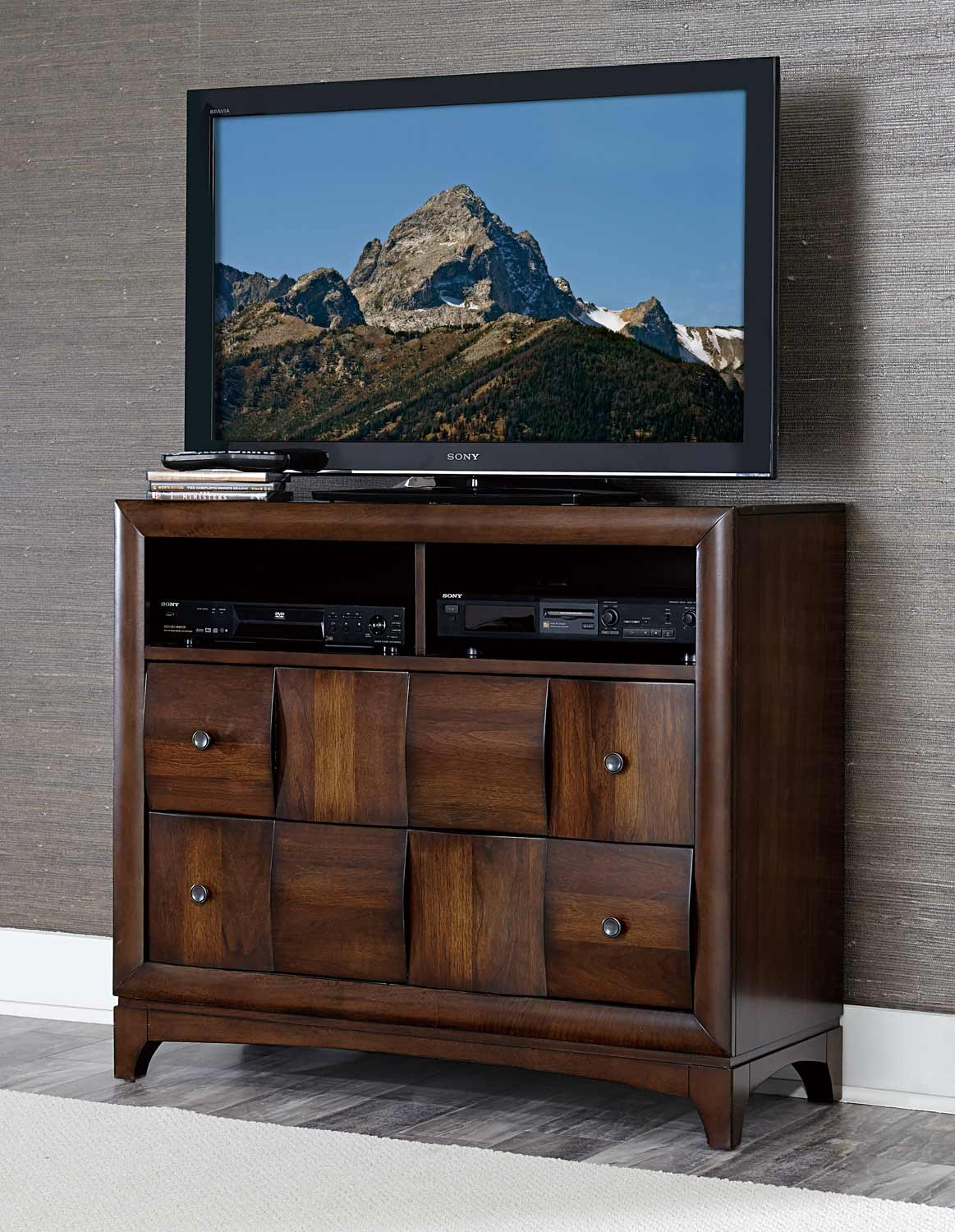 Homelegance Porter TV Chest - Warm Walnut