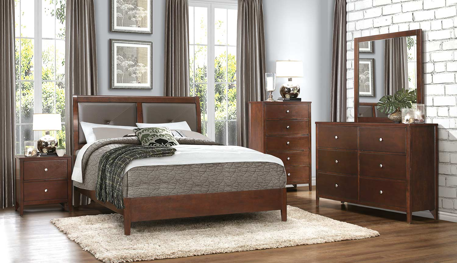 Homelegance Cullen Bedroom Set   Brown Cherry. Homelegance Cullen Bedroom Set   Brown Cherry 1855 BEDROOM SET