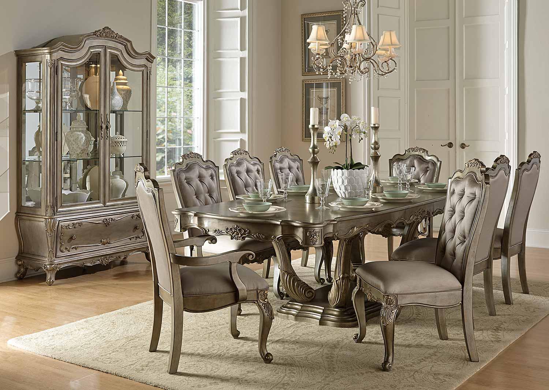 Homelegance Florentina Dining Set - Silver/Gold