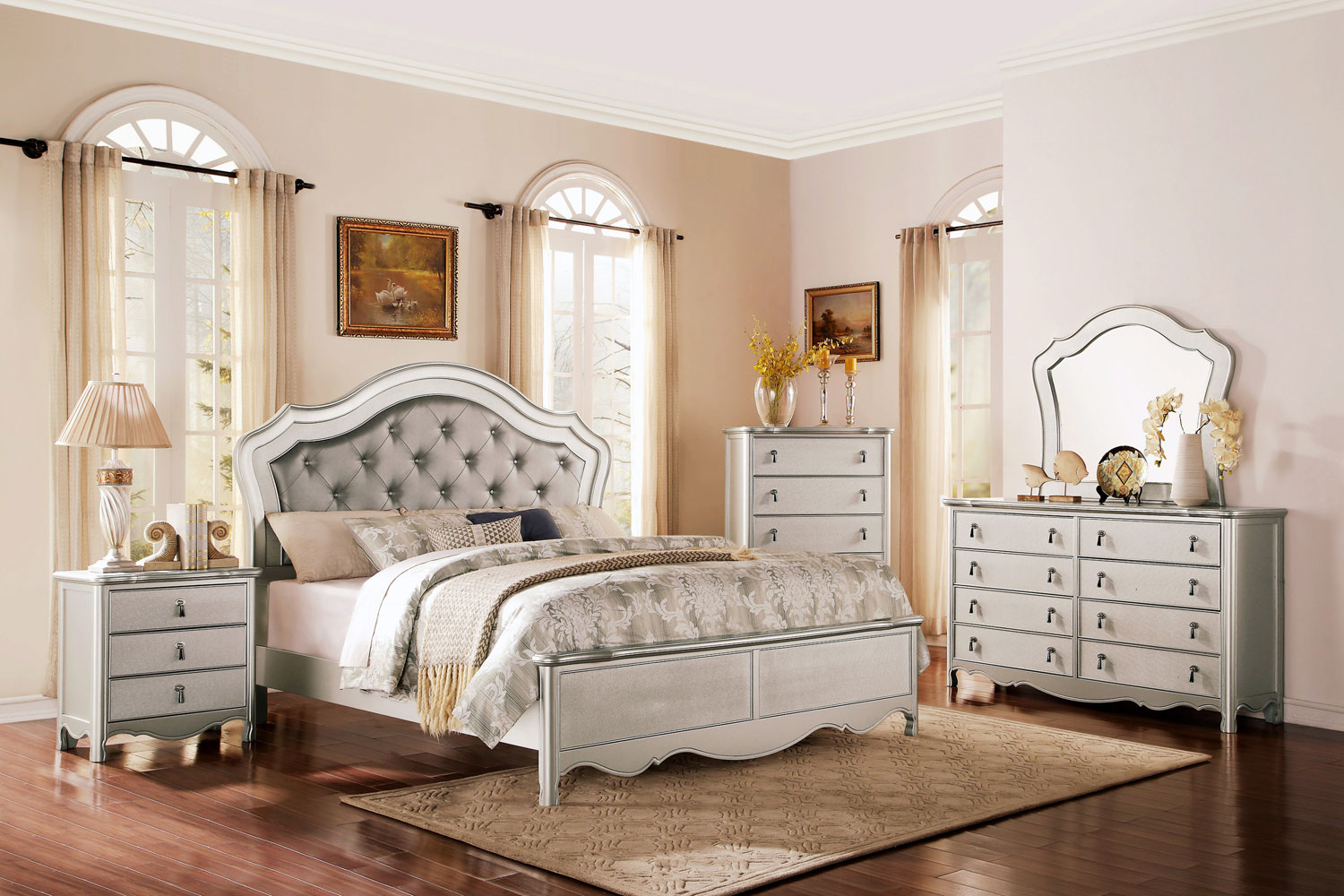Homelegance Toulouse Upholstered Bedroom Set - Champagne B1901-1 ...