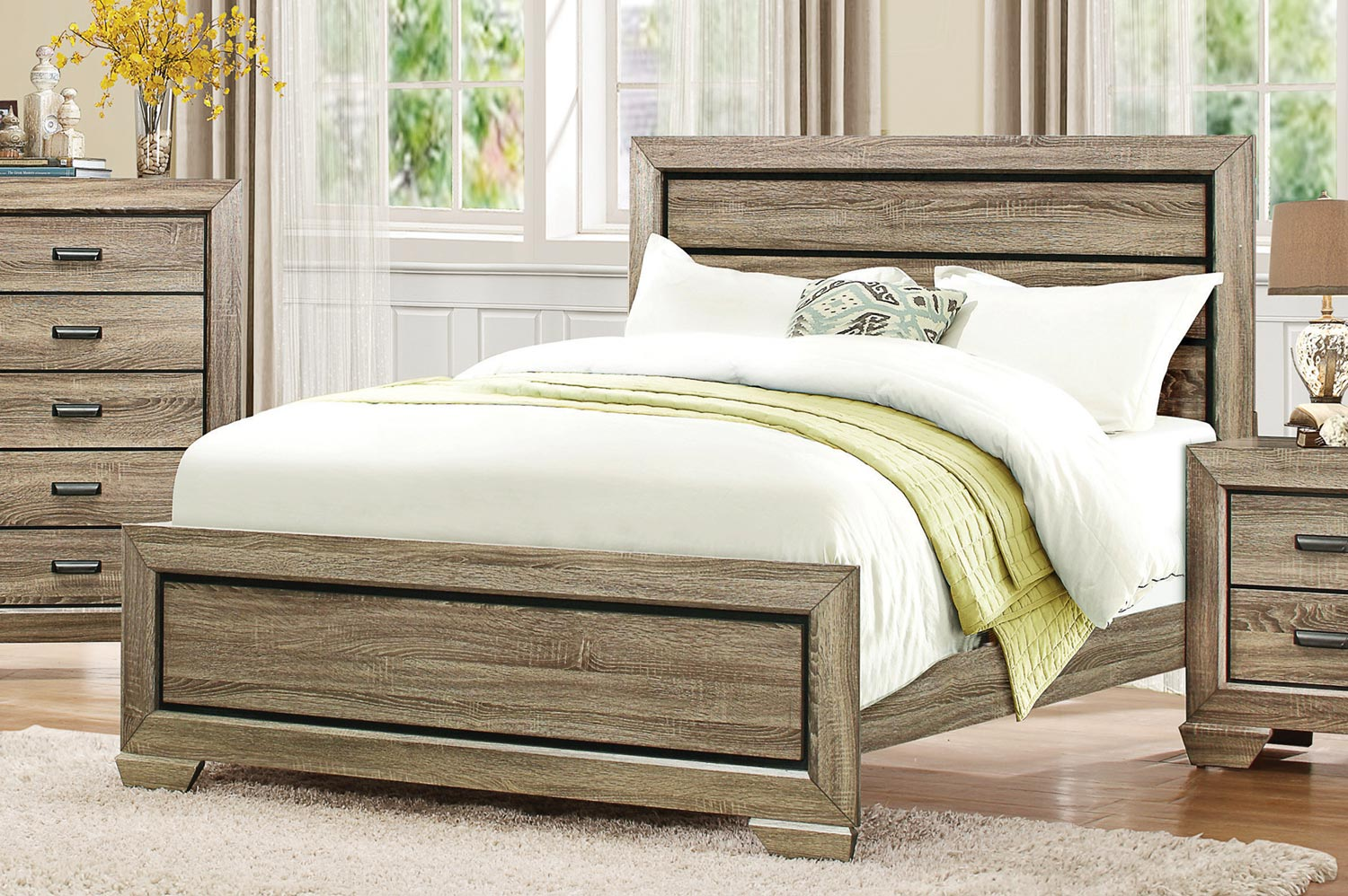 Homelegance Beechnut Panel Bed - Light Elm