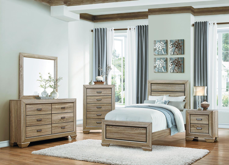 Homelegance Beechnut Panel Bedroom Set - Light Elm