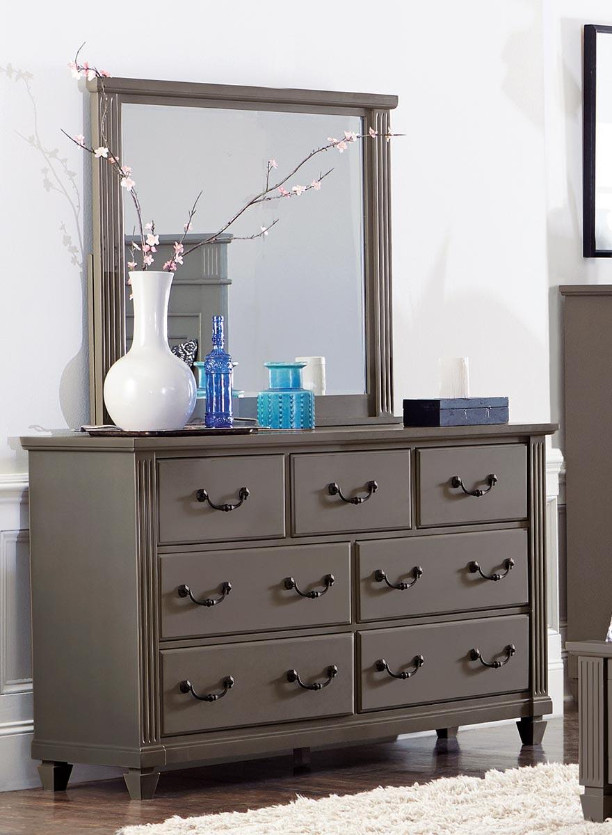 Homelegance Granbury Mirror - Grey Rub