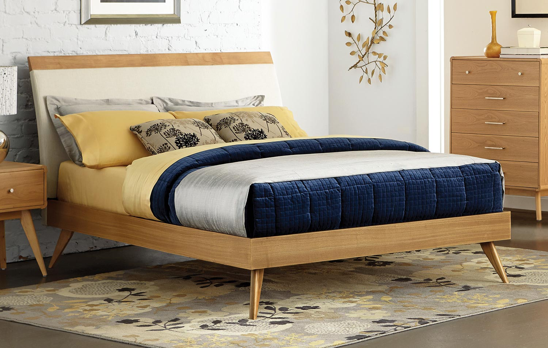 Homelegance Anika Platform Bed - Light Ash