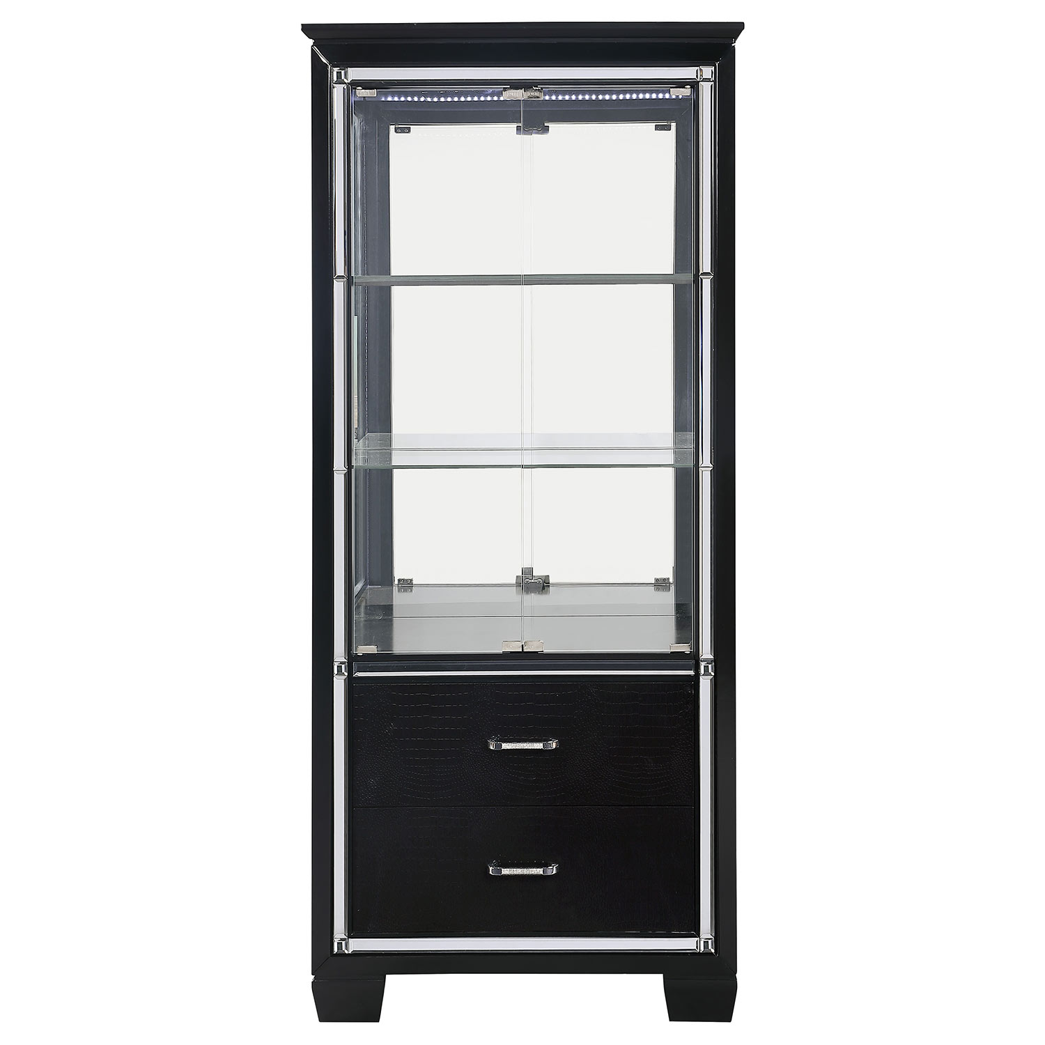 Homelegance Allura Curio - Black Metallic