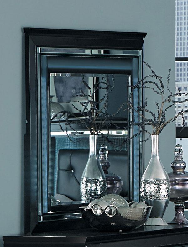 Homelegance Allura Mirror with LED Lighting - Black
