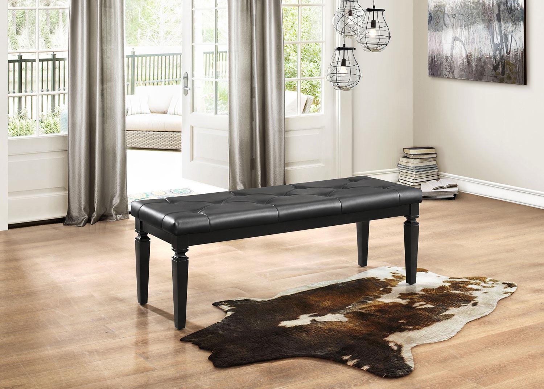 Homelegance Allura Bed Bench - Black