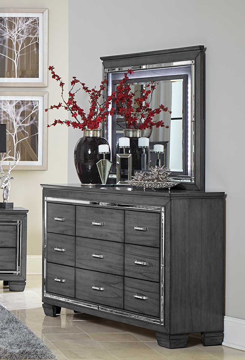 Homelegance Allura Mirror with LED Lighting - Gray