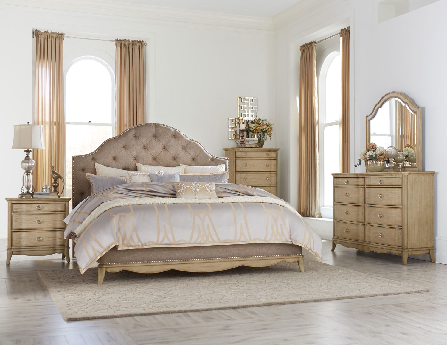 Homelegance Ashden Upholstered Bedroom Set - Driftwood B1918-1 ...