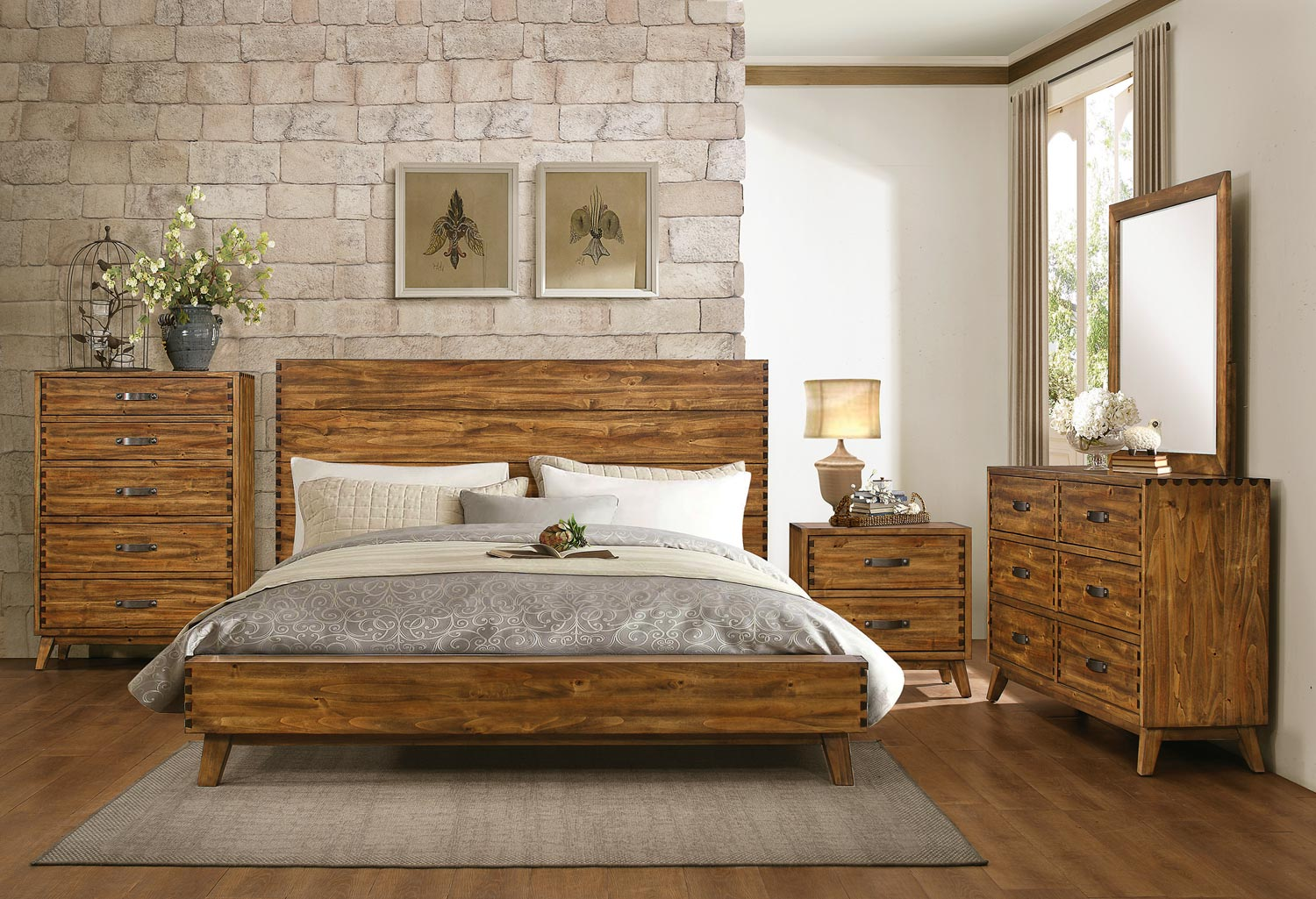 Homelegance Sorrel Panel Platform Bedroom Set - Rustic B1927-1 ...