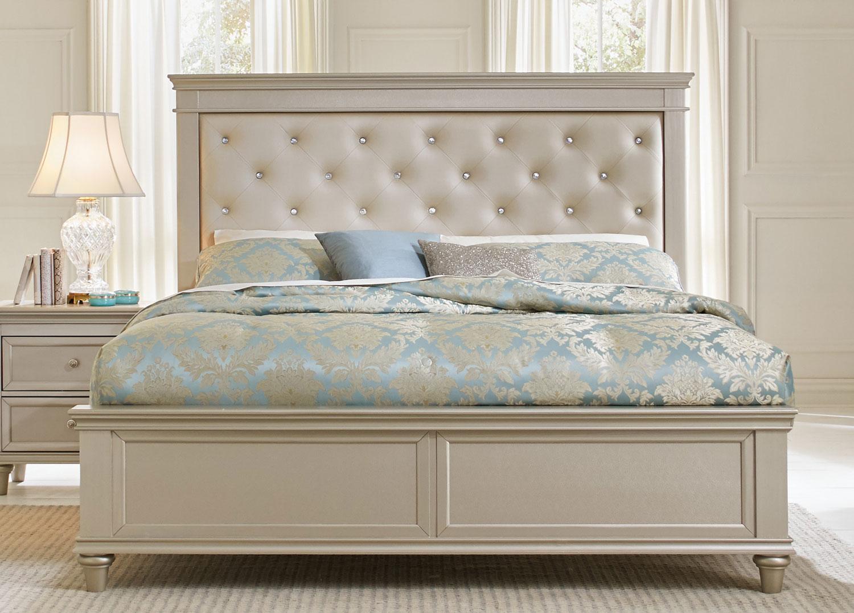 Homelegance Celandine Upholstered Bed - Silver