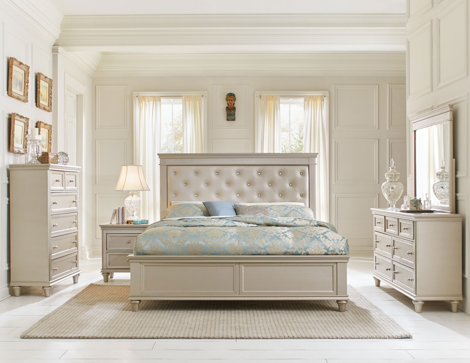 Classic Upholstered Bedroom Set Remodelling