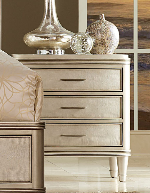 Homelegance Tandie Night Stand - Champagne