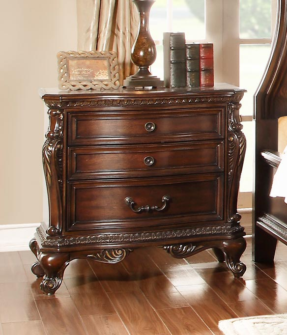 Homelegance Bonaventure Park Night Stand - Warm Cherry