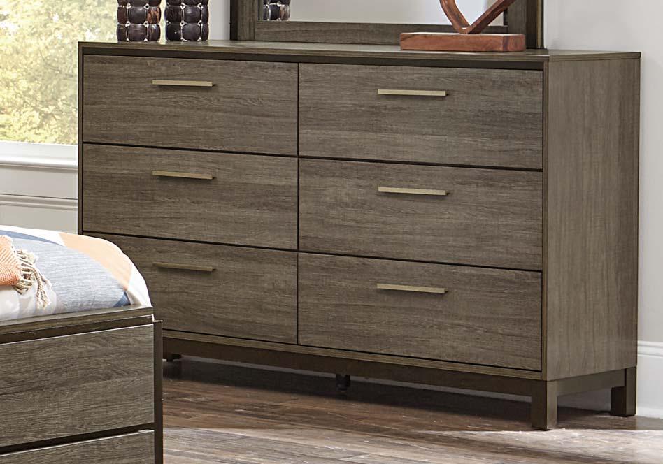 Homelegance Vestavia Dresser - Grey/Dark Brown