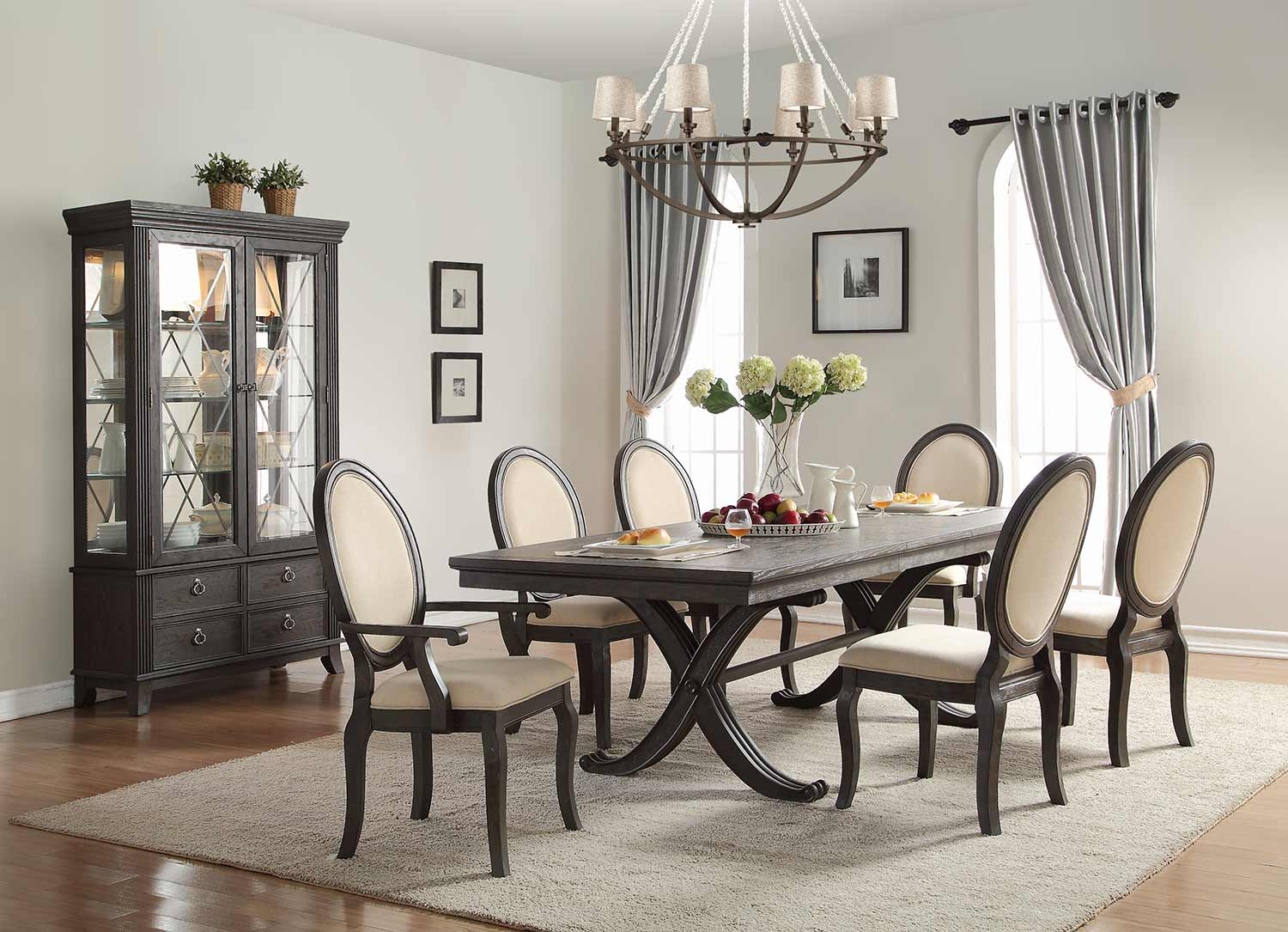 Homelegance Lindley Dining Set - Walnut/Dusty Gray