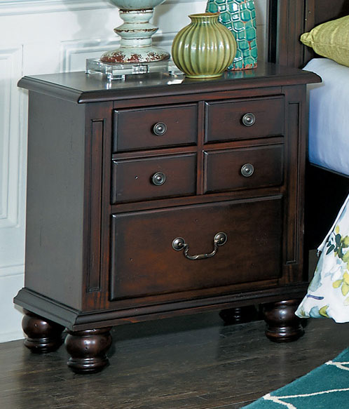 Homelegance Frederica Night Stand - Burnished Cherry