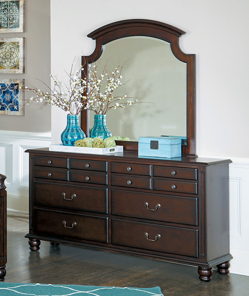 Homelegance Frederica Mirror - Burnished Cherry