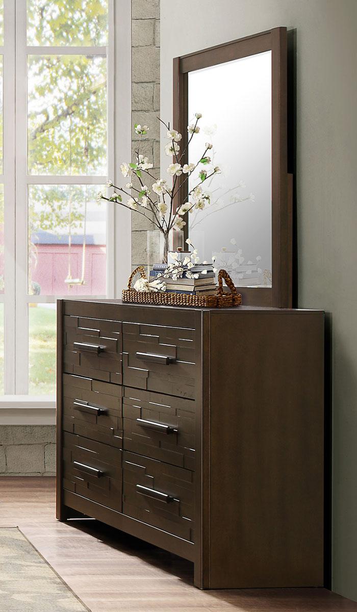 Homelegance Bowers Dresser - Rustic Java Brown