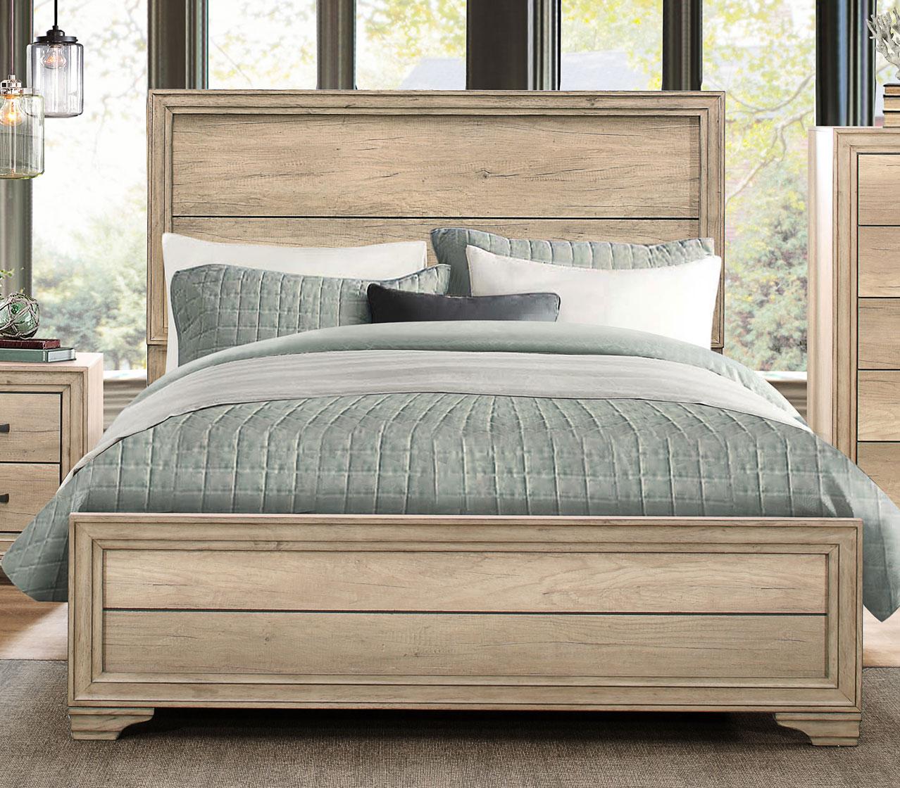 Homelegance Lonan Bed - Weathered
