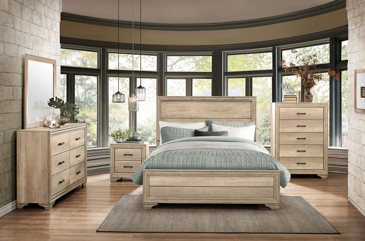 Homelegance Lonan Bedroom Set - Weathered
