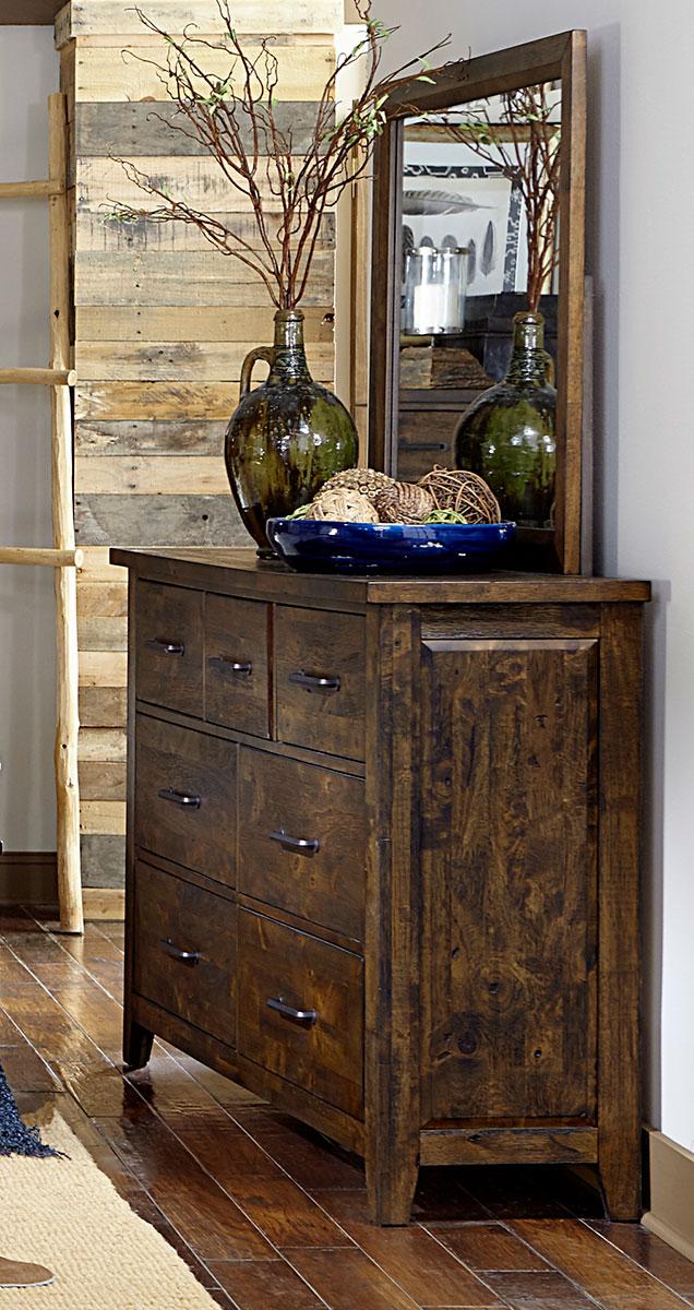 Homelegance Jerrick Dresser - Rustic Burnished Wood