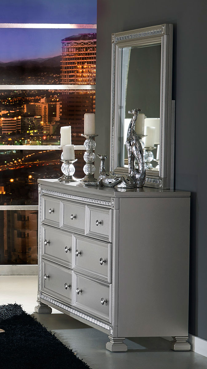 Homelegance Bevelle Dresser - Silver