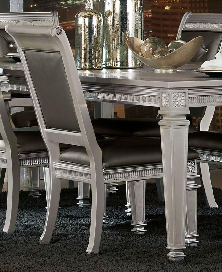 Homelegance Bevelle Side Chair - Silver