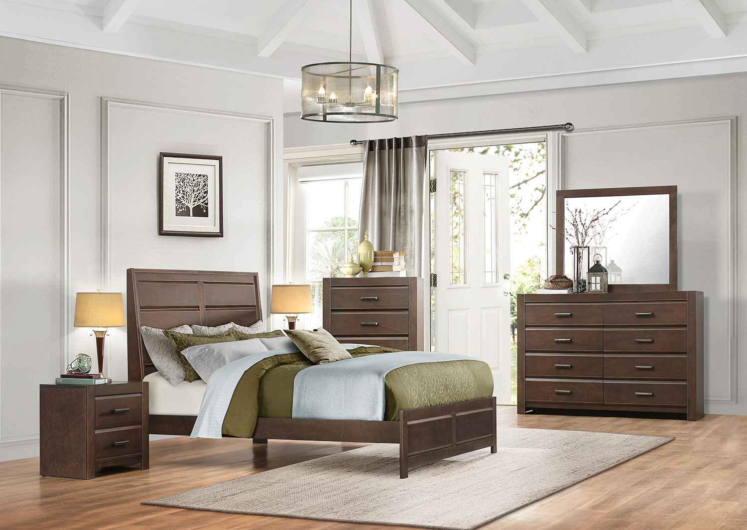 Bedroom Sets Espresso homelegance erwan low profile bedroom set - espresso 1961-bedroom