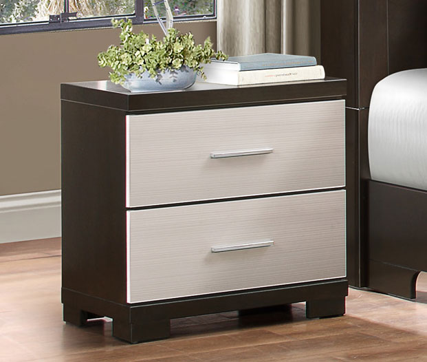 Homelegance Pell Night Stand - Two-tone Espresso/White