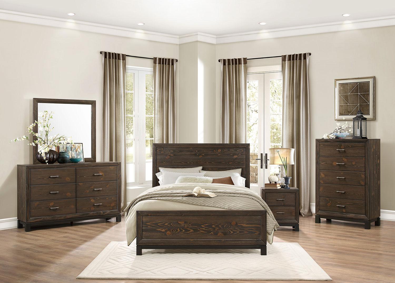 Homelegance Branton Bedroom Set - Antique Brown