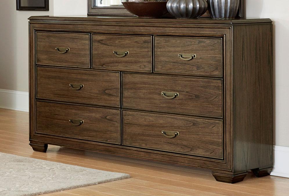 Homelegance Leavitt Dresser - Brown Cherry