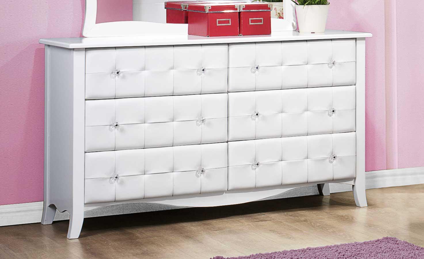 Homelegance Sparkle Dresser - White