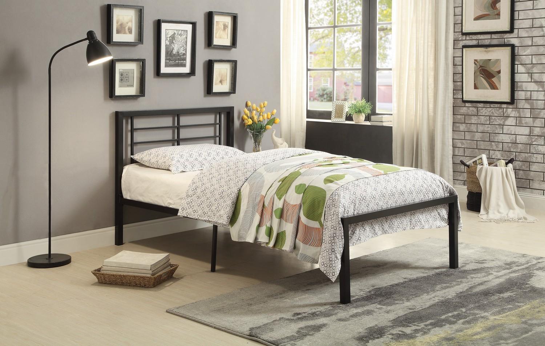 Homelegance Willa Metal Platform Bed - Black