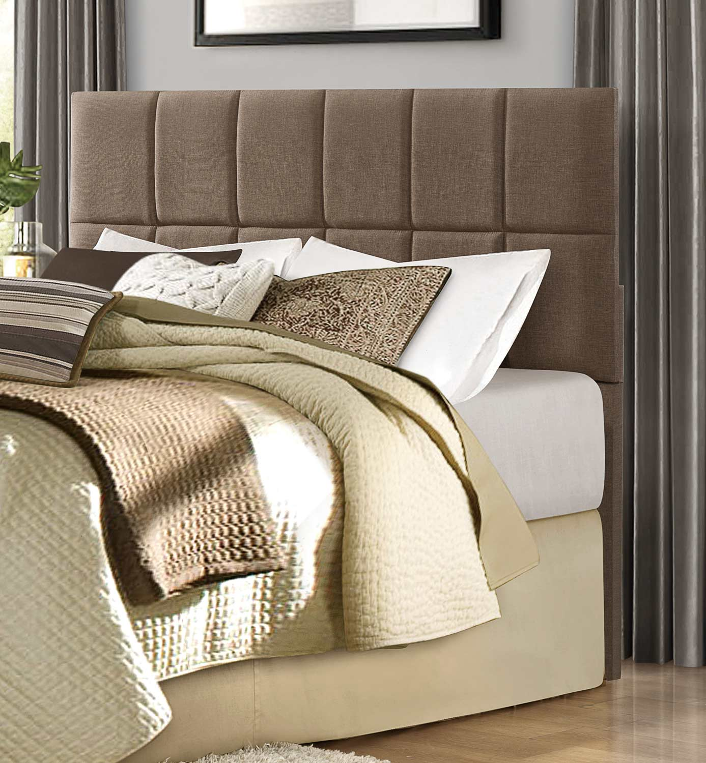 Homelegance Portrero Upholstered Headboard - Brown