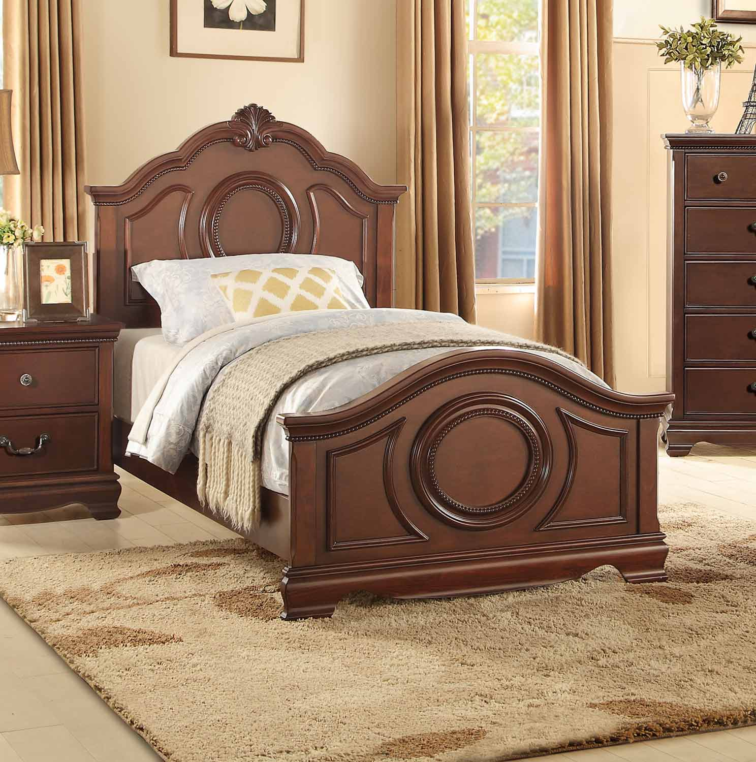 Homelegance Lucida Bed - Cherry
