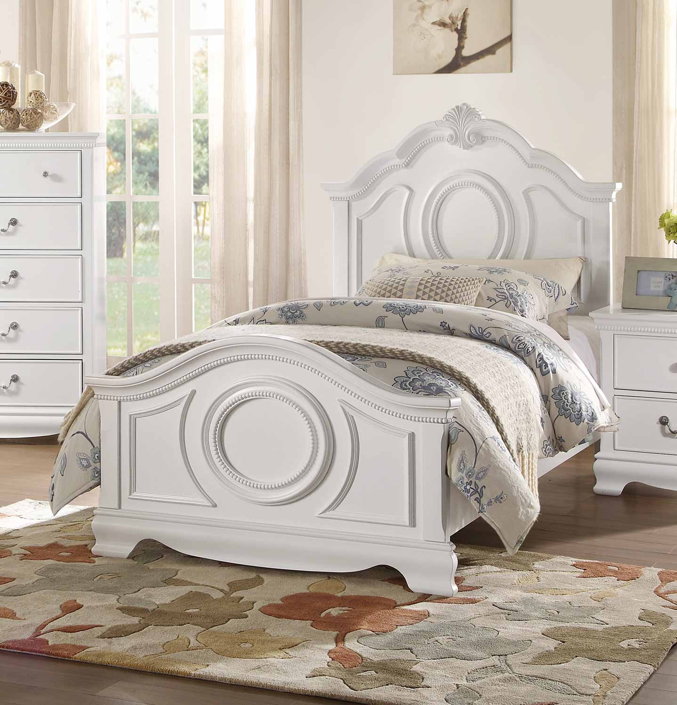 Homelegance Lucida Bed - White