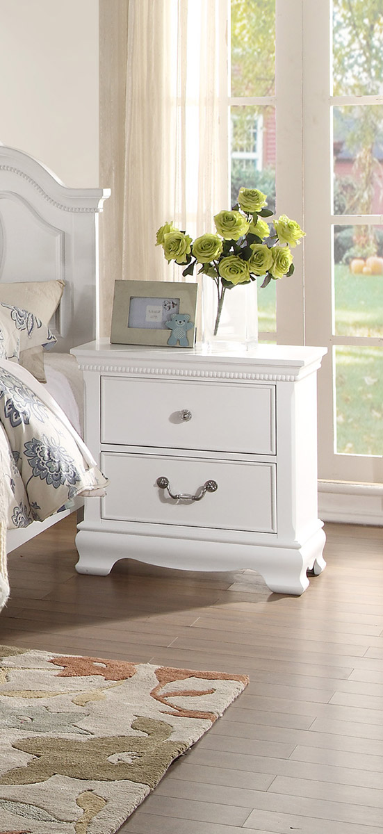 Homelegance Lucida Night Stand - White