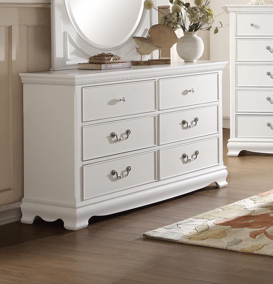 Homelegance Lucida Dresser - White