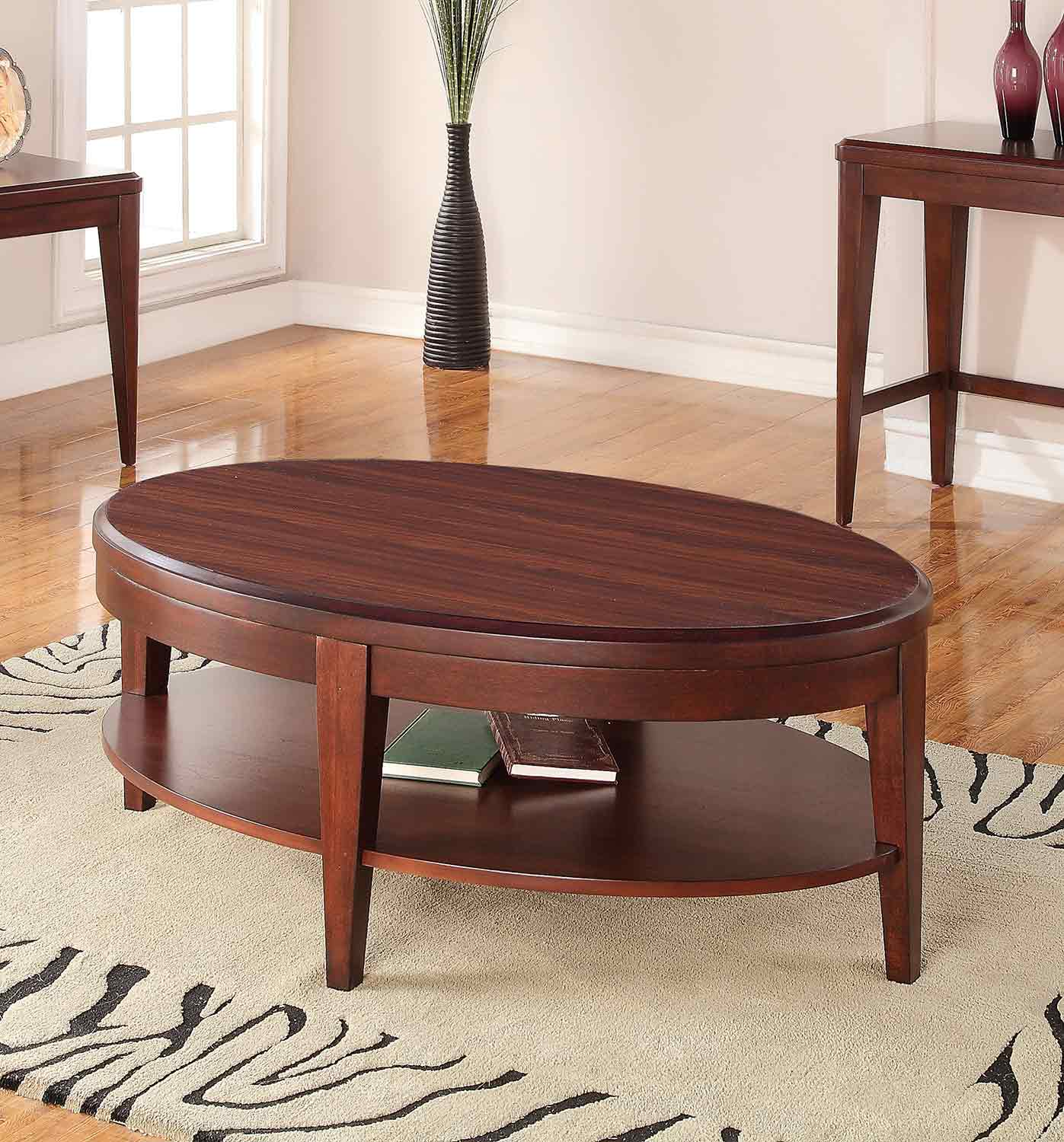 Homelegance Beaumont Cocktail Table - Brown Cherry