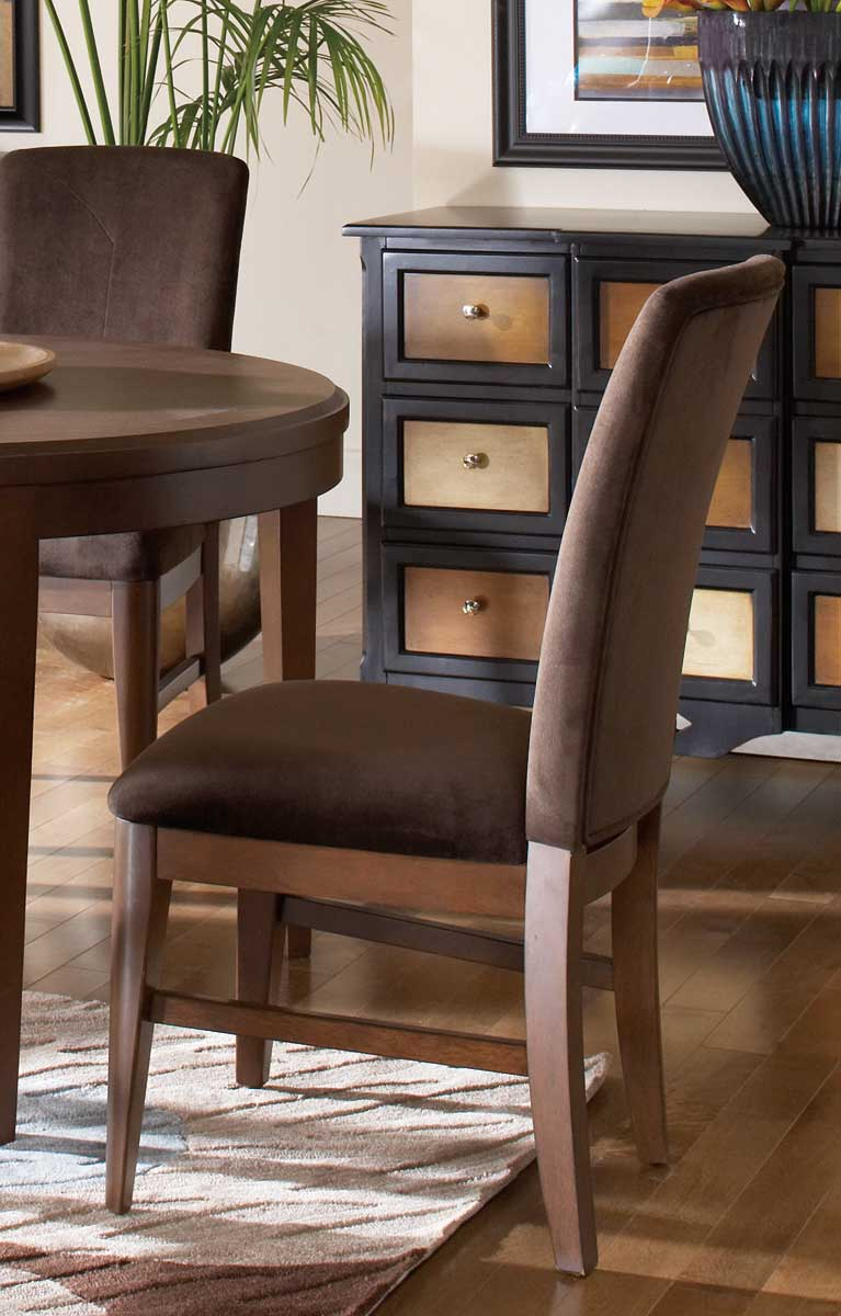 Homelegance Beaumont Side Chair - Brown Cherry