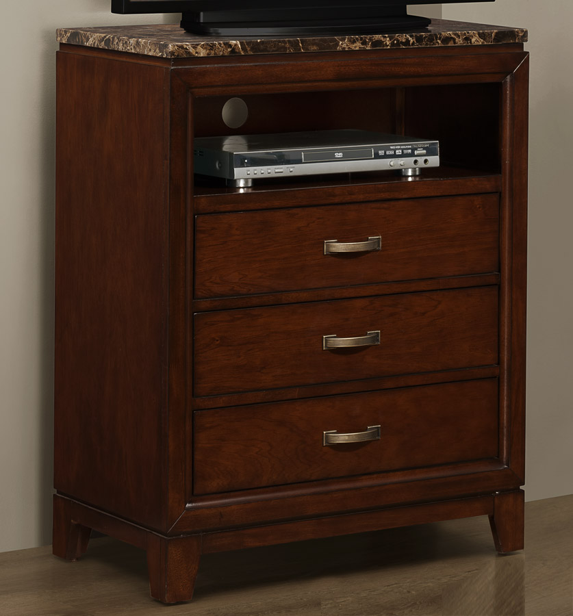 Homelegance Ottowa TV Chest - Faux Marble Top