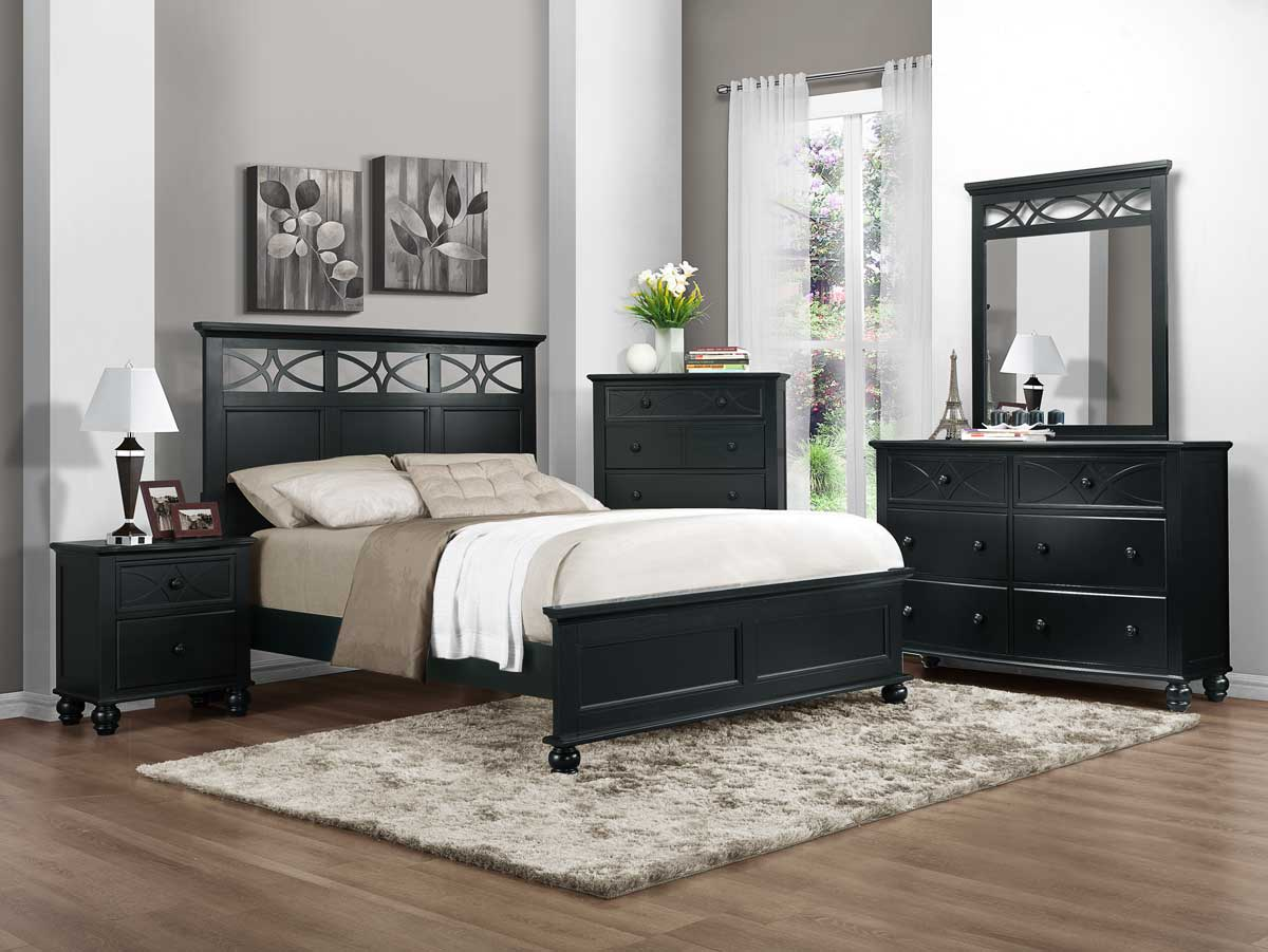 homelegance sanibel bedroom set black b2119bk bed set