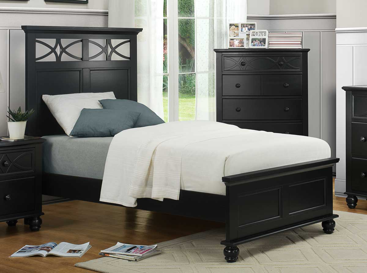Homelegance Sanibel Bed   Black. Homelegance Sanibel Bed   Black 2119BK 1